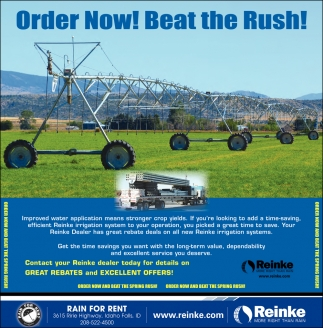 Order Now! Beat the Rush!