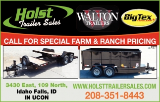 Call for Special Farm & Ranch Pricing
