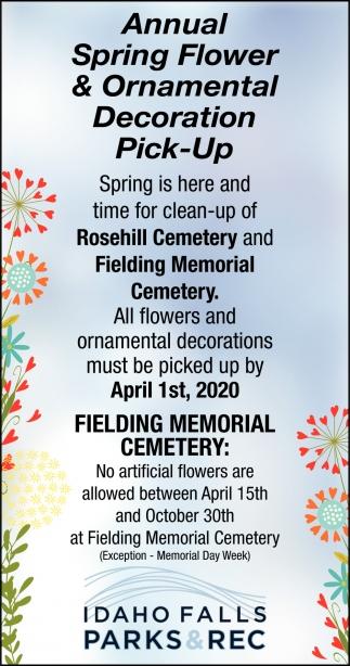 Annual Spring Flower & Ornamental Decoration