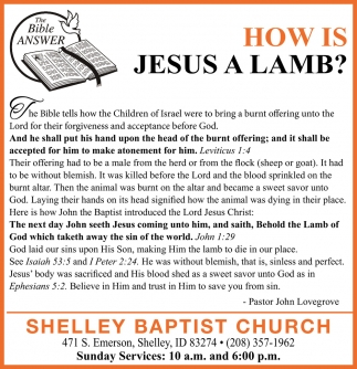 How Is Jesus a Lamb?