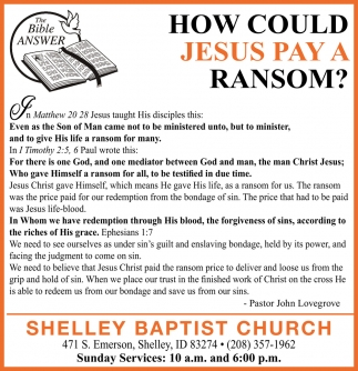 How Could Jesus Pay a Ransom?