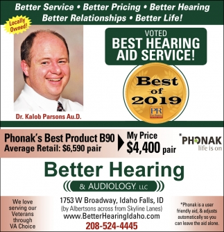 Voted Best Hearing Aid Service!