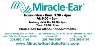 Please Call for Off-Hour Appointments