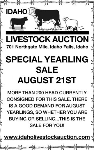 Special Yearling Sale August 21st