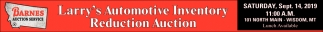 Larry's Automotive Inventory Reduction Auction