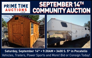 September 14th Community Auction