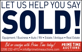 Let us help you say Sold!