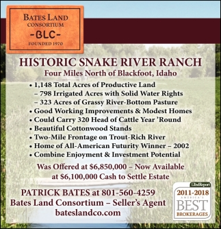 Historic Snake River Ranch