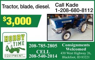 Tractor, blade, diesel