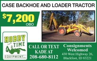Case Backhoe Loader Tractor