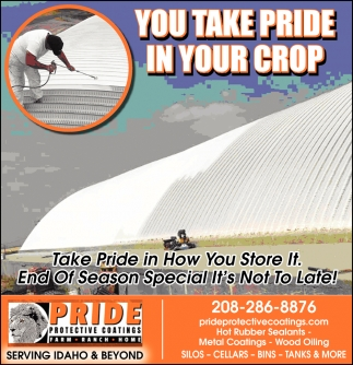 You Take Pride In Your Crop