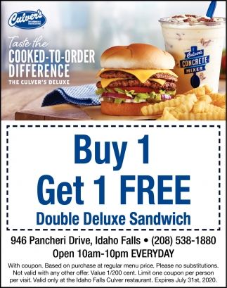 Taste The Cooked To Order Difference Culver S Idaho Falls Id