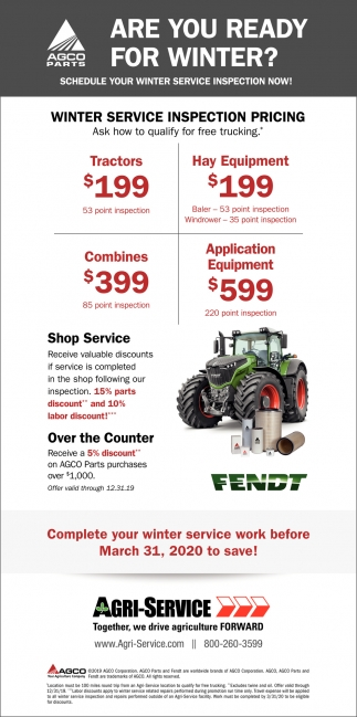 Winter Service Inspection Pricing