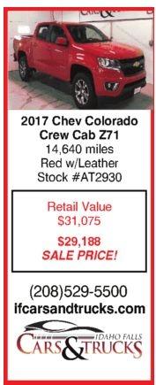 2017 Chev Colorado Crew Cab Z71