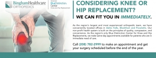 Considering knee or hip replacement?