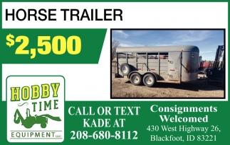 Horse Trailer $2,500