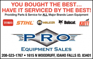 You bought the best... Have it serviced by the best!