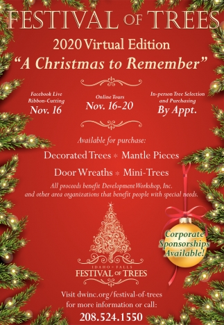Christmas Events Idaho Falls 2020 A Christmas to Remember, Festival of Trees 2020