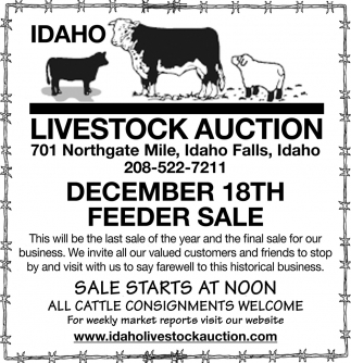 Dec. 18th Feeder Sale