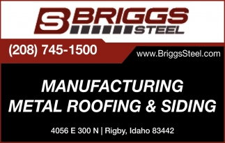 Manufacturing Metal Roofing & Siding