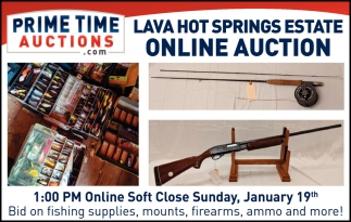 Lava Hot Springs Estate Online Auction