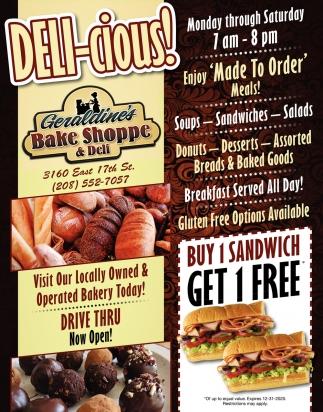 Buy 1 Sandwich Get 1 FREE