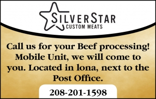 Call us for your beef processing!