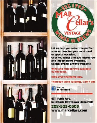 Great selection of wines and microbrews