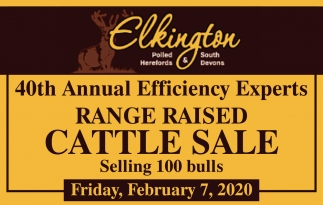 40th Annual Efficiency Experts Range Raised Cattle Sale