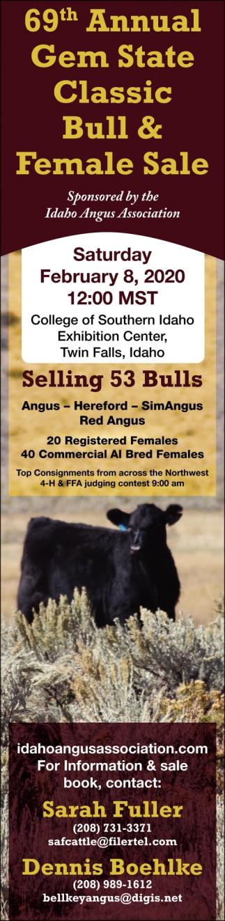 69th Annual Gem State Classic Bull & Female Sale