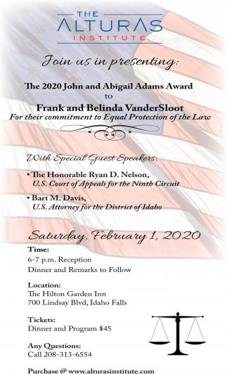 2020 John and Abigail Adams Award