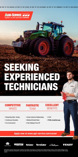 Seeking Experienced Technicians