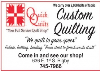 Your Full Service Quilt Shop